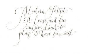 Modern Script sample